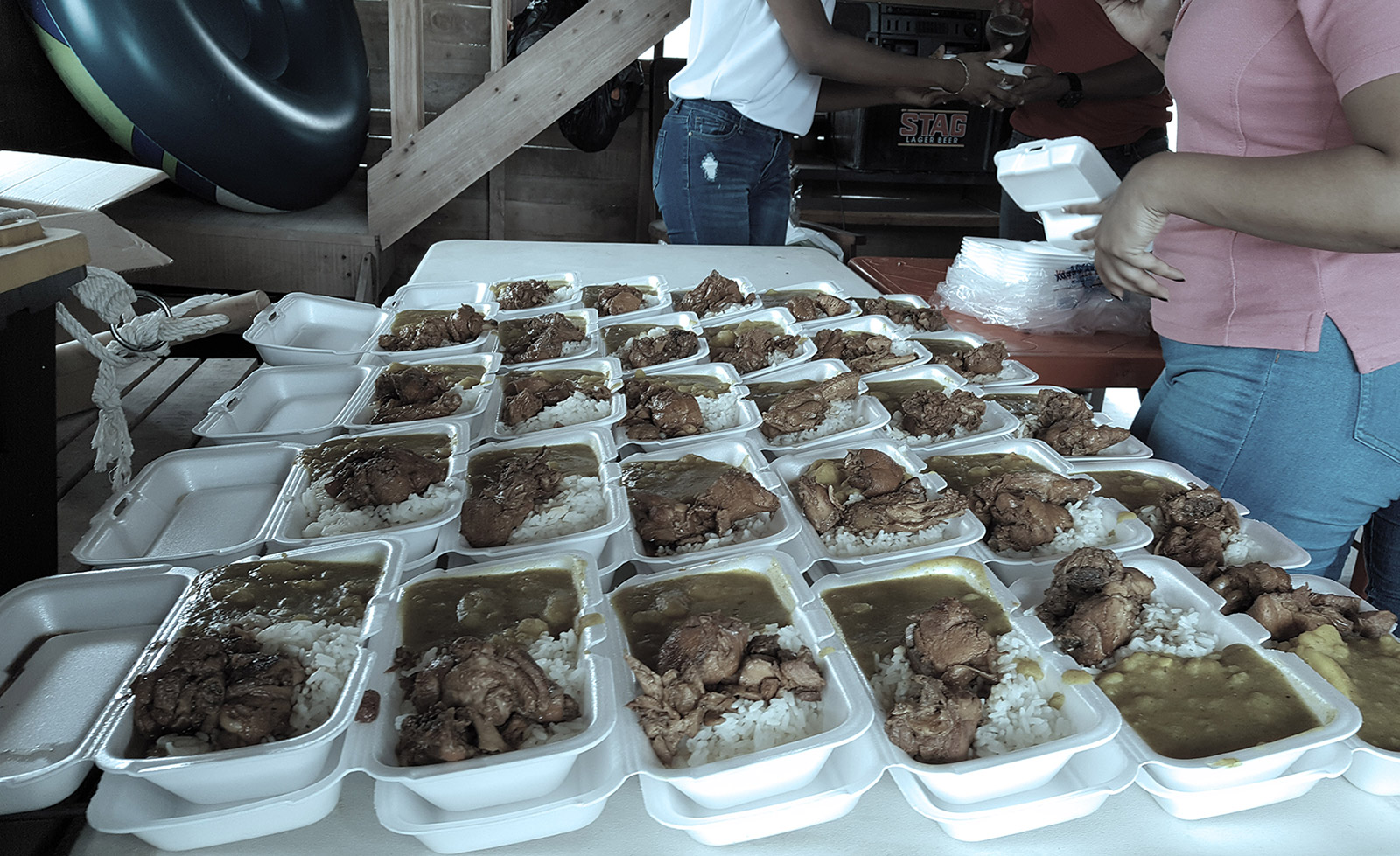 Hot Lunch and Necessities distributed in South flood relief