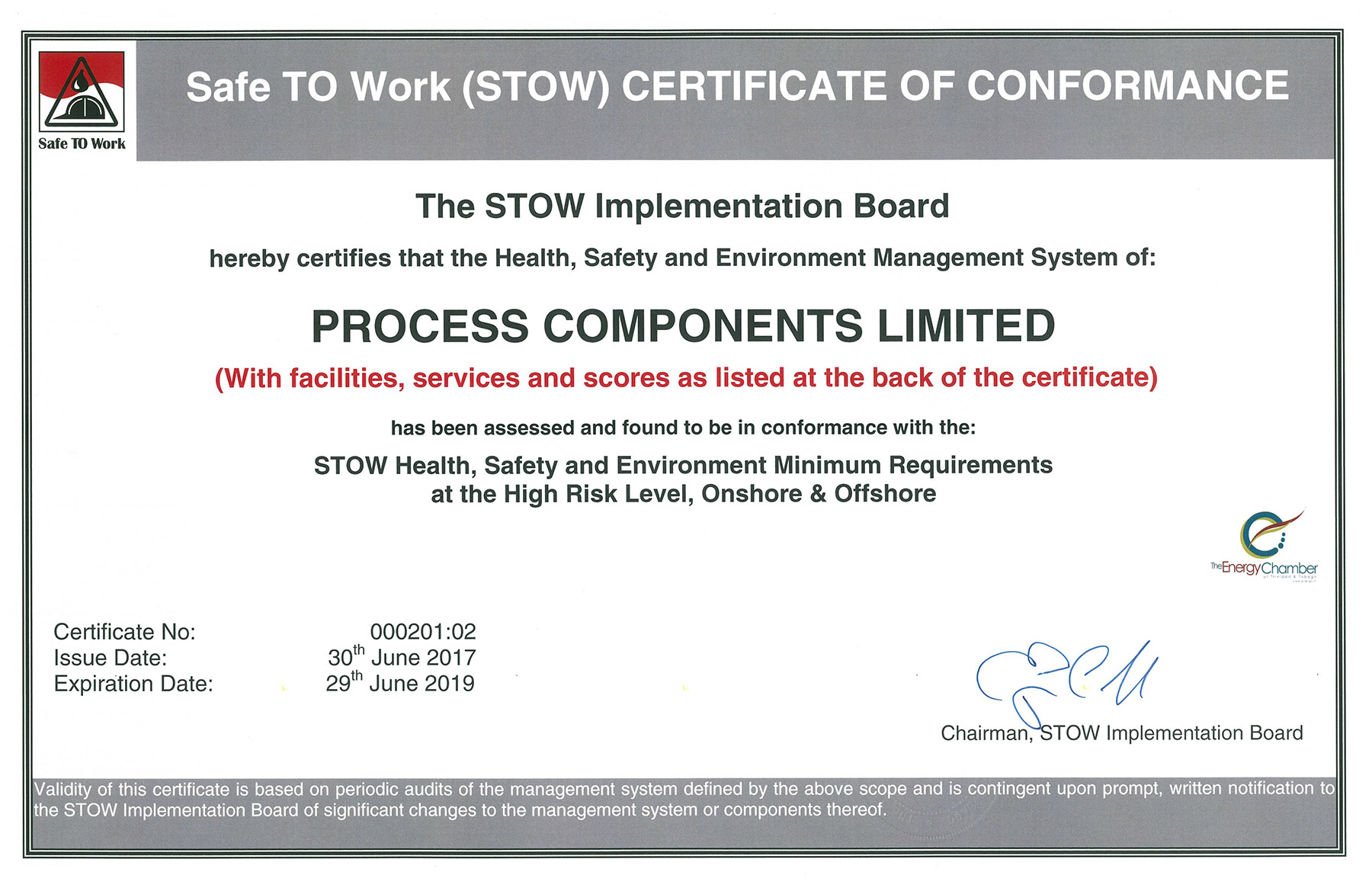 Safe-To-Work (STOW)